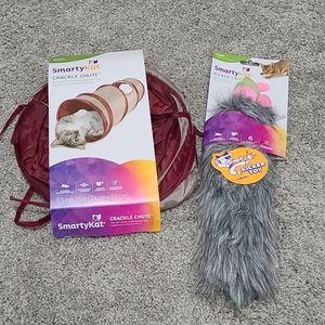 2 SmartyKat Hunt Toys Chute, Crinkle Critter